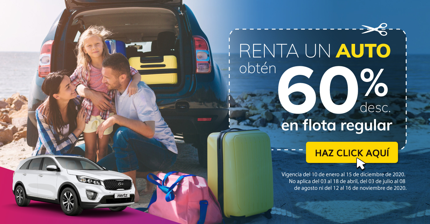 Renta un auto con 50% de descuento con Hertz México