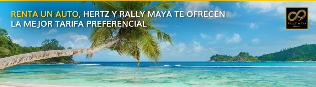 Renta un auto con RALLY MAYA de descuento con Hertz México
