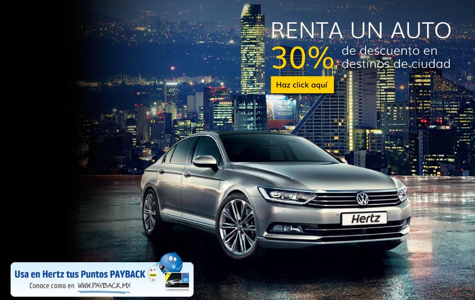 Renta un auto, renta un carro, renta una camioneta en marzo y abril con las promociones  de Hertz México